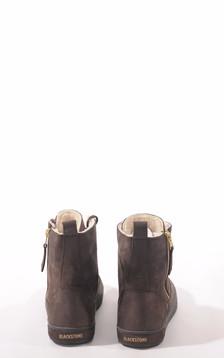 Boots cuir fourrées mouton marron foncé