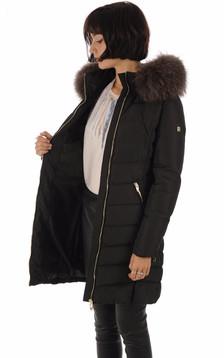 Doudoune longue noire femme