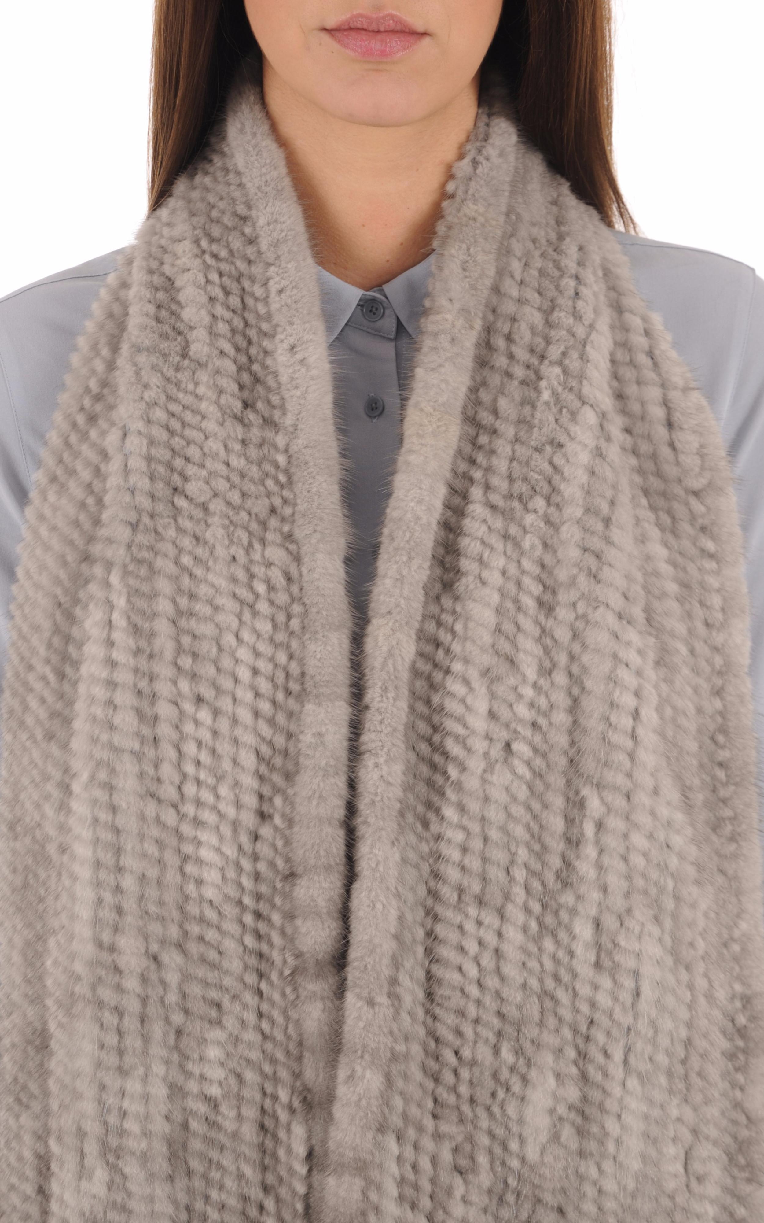 Echarpe Femme Vison gris Intuition