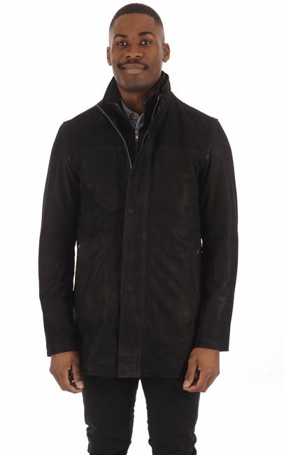 Sur-veste Cuir Vachette Noir La Canadienne