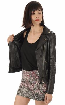 La Canadienne - Blouson cuir noir femme