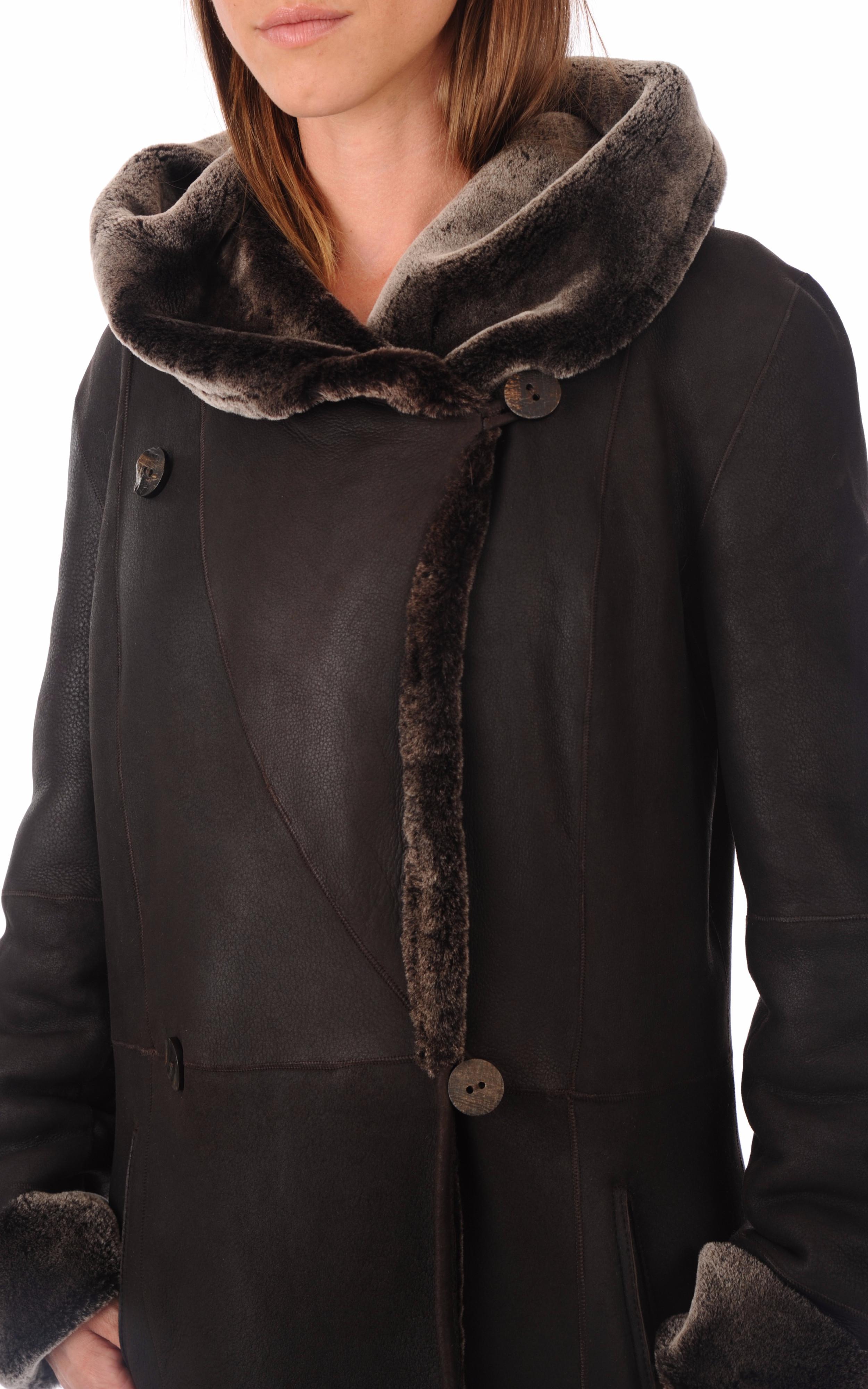 Manteau Peau Lainée en Toscane La Canadienne