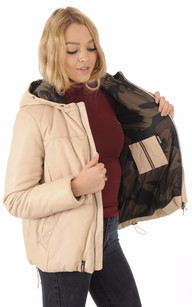 Doudoune Light Cuir Coupe Oversize