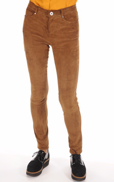 Pantalon Chèvre Stretch Cognac1