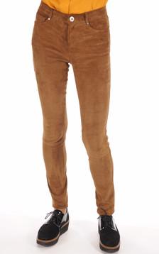 Pantalon Cuir Chèvre Stretch Cognac1