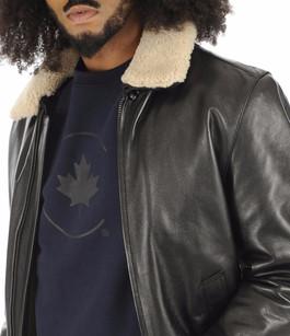Blouson pilote vachette noir La Canadienne