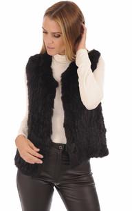 OAKWOOD Doudoune cuir OAKWOOD femme Happy agneau rouge 61677