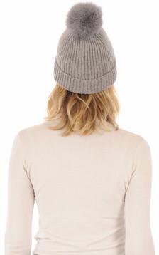 Bonnet en laine gris1
