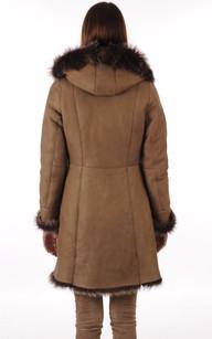Manteau Peau Lainée en Agneau de Toscane