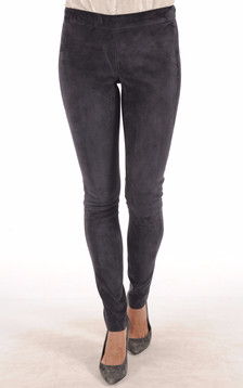 Legging Cuir Stretch Bleu Marine1