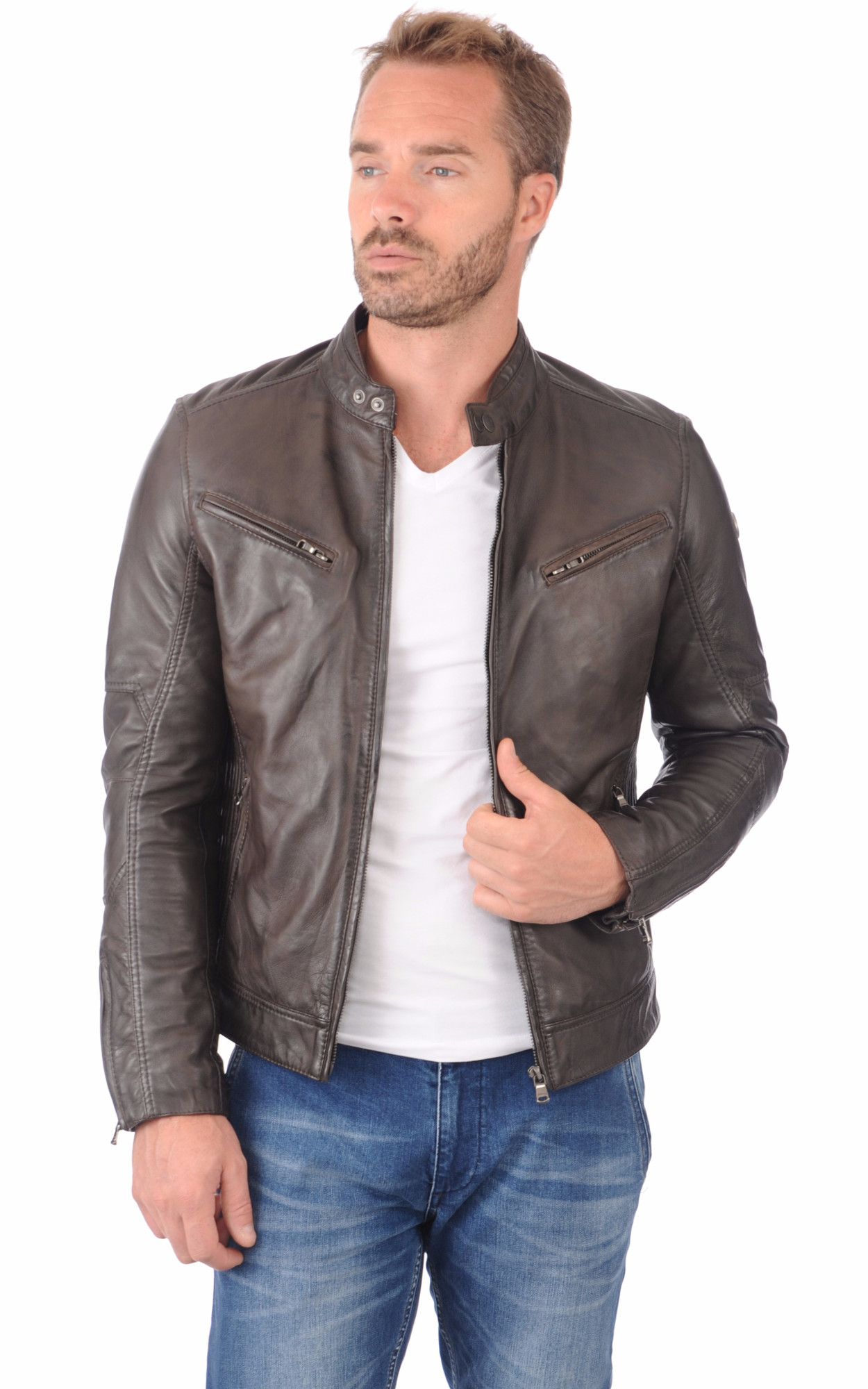 Blouson Lynch Marron Glacé
