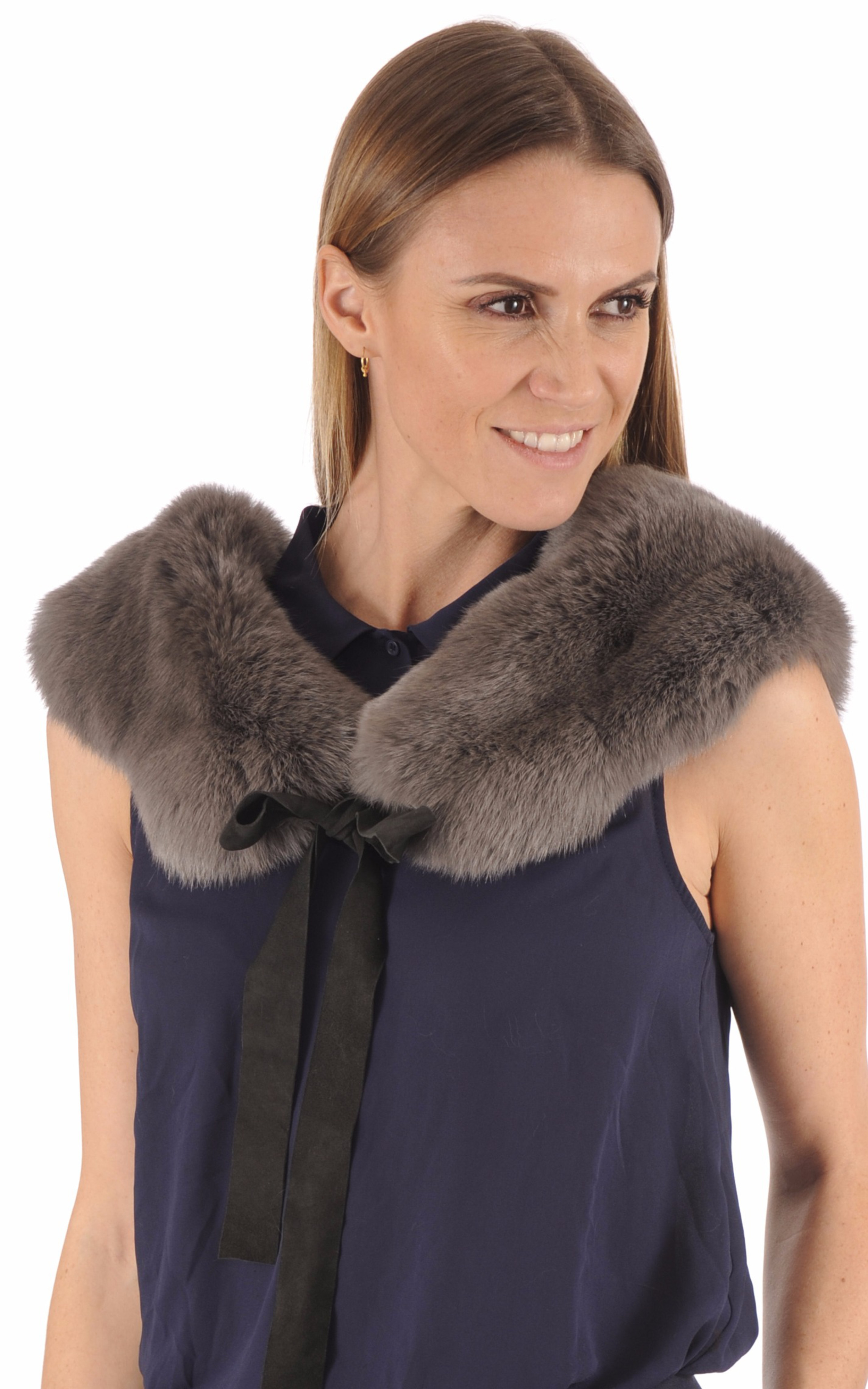 Col Lapin Anthracite Femme Lea Clement