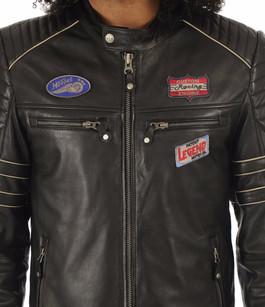 Blouson Iron noir Classic Legend Motors