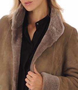Peau lainée mérinos beige foncé La Canadienne