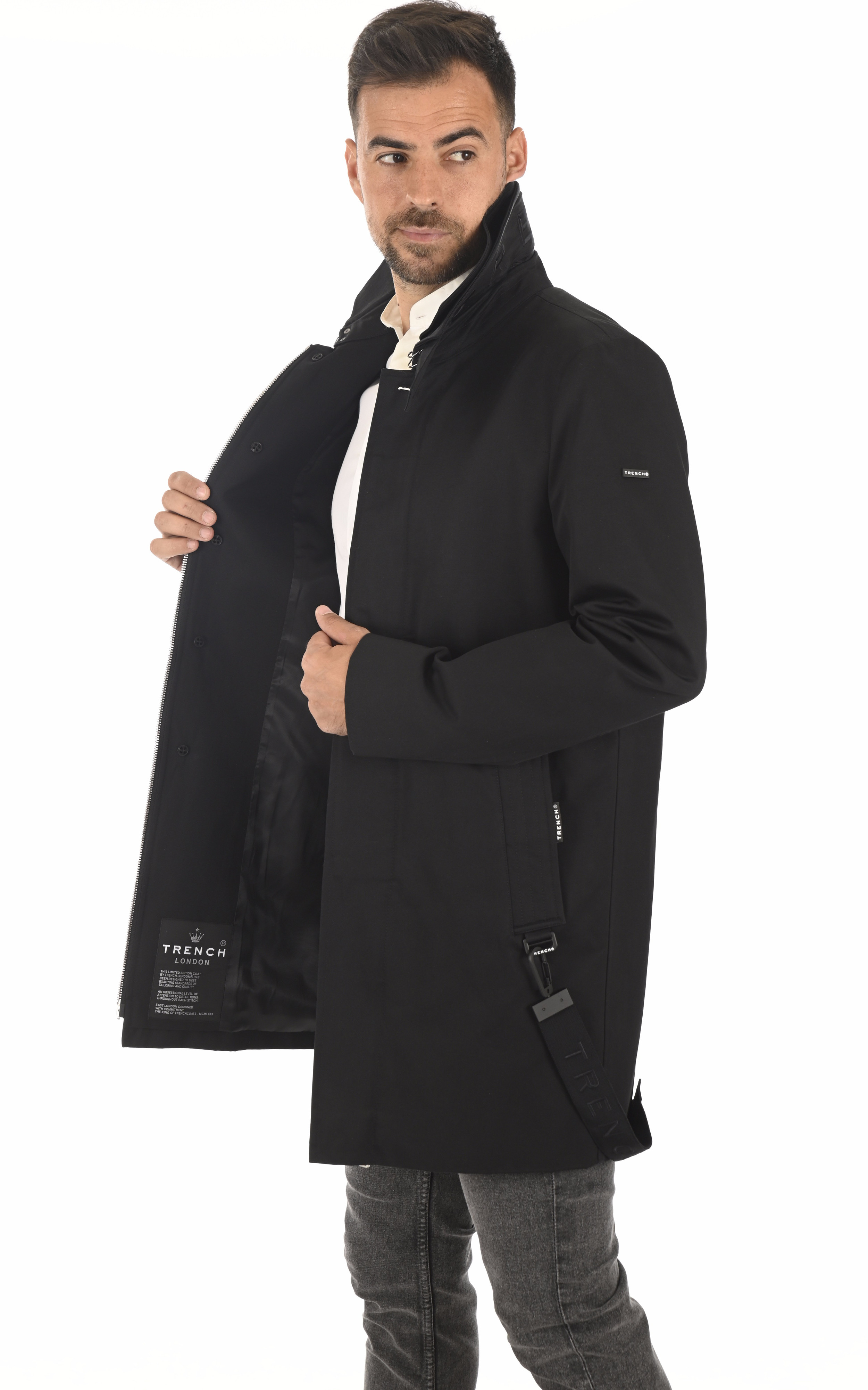 Trench Knight Coat noir Trench London