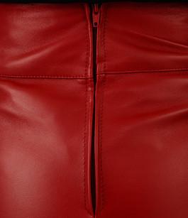 Mini Jupe Cuir Agneau Rouge La Canadienne