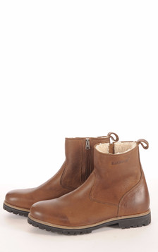 Bottines Fourrées Mouton Marrons Homme