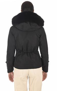 Parka renard Simy noire