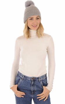 Bonnet en laine gris