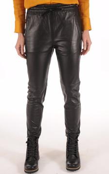 Pantalon Jogpant Cuir Noir1