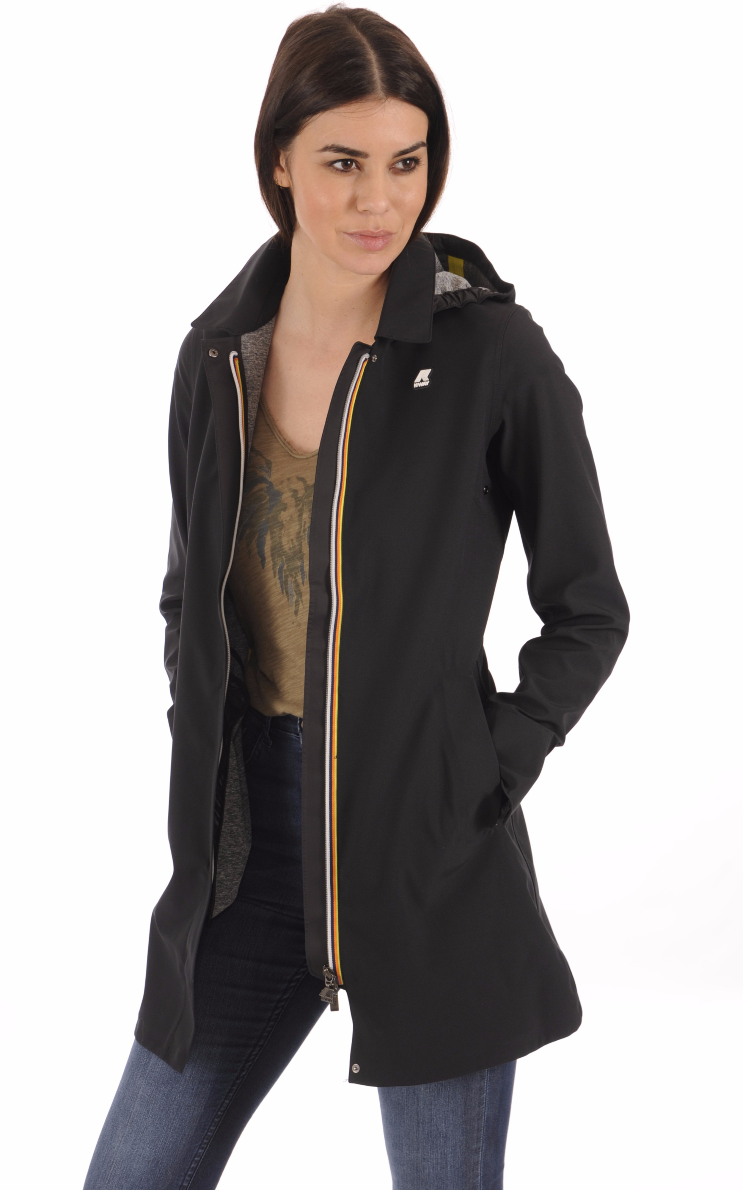 Parka Imperméable MATHILDE Noir K-Way