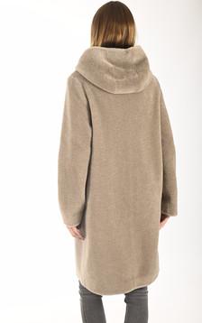 Manteau Angelique réversible taupe