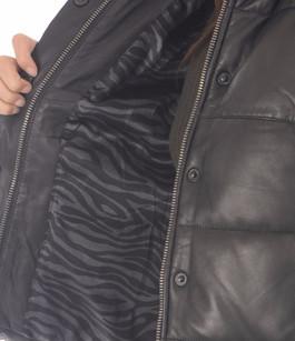 Doudoune courte cuir femme Goosecraft