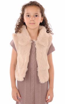 Gilet Enfant Fourrure Lapin