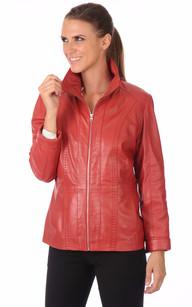 Veste Classique Cuir Rouge