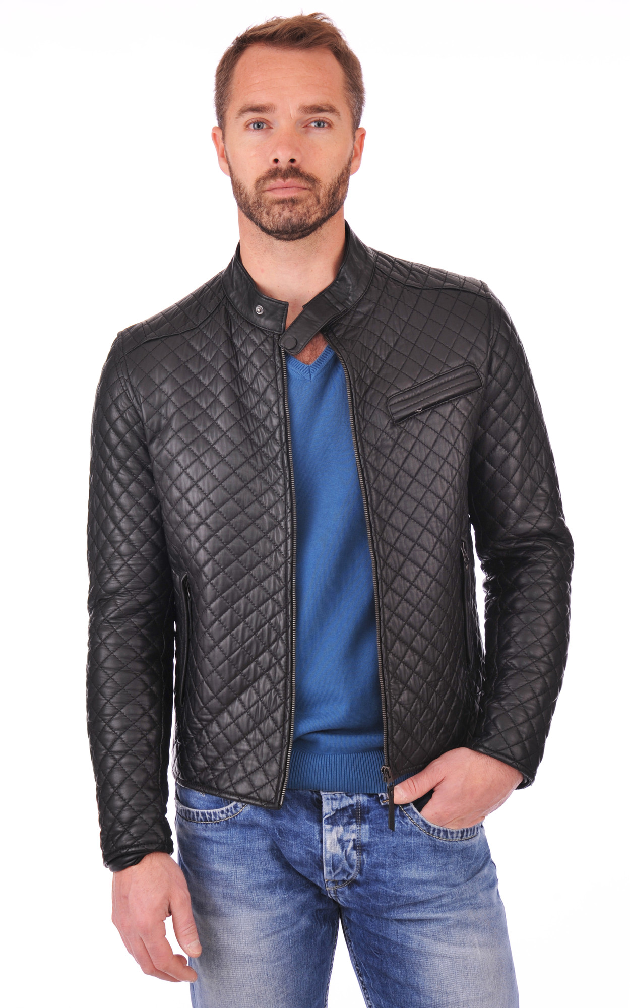 Blouson Top Man Quilted Noir