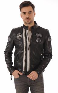 Veste en cuir de style motard h&m