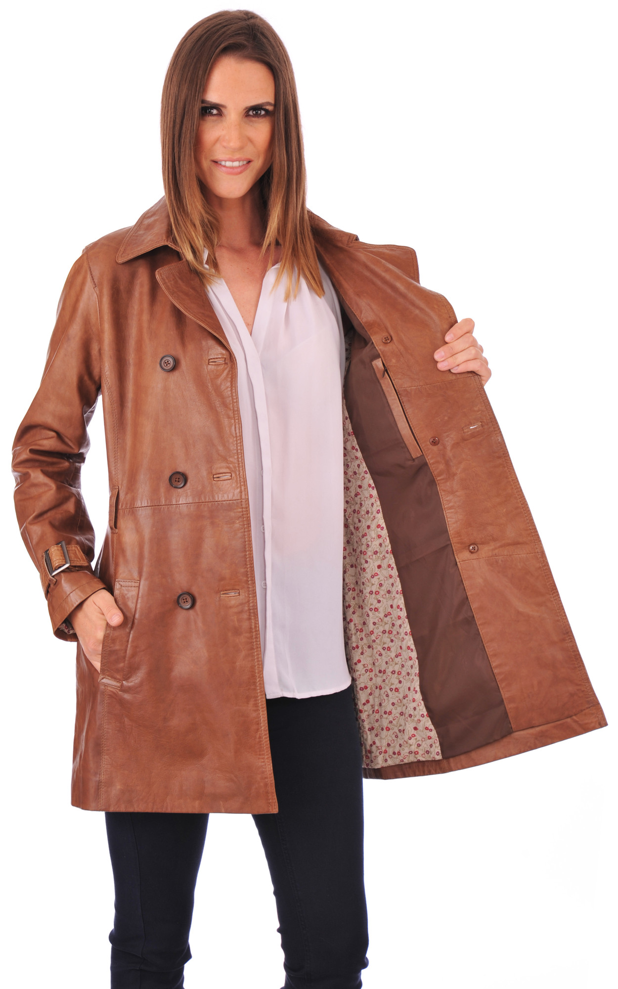 Trench Cuir Femme Bison