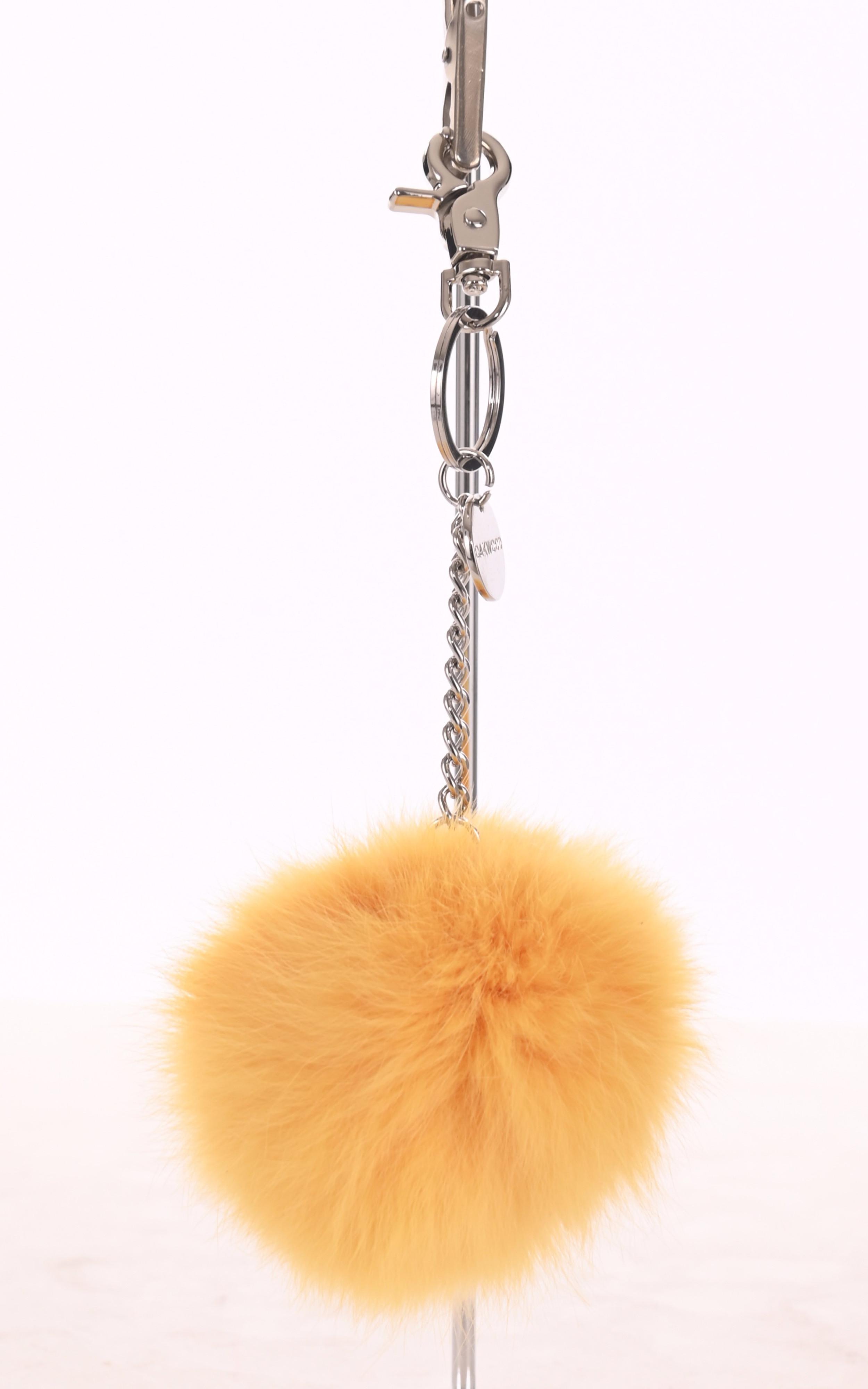 Porte-clé lapin jaune Oakwood