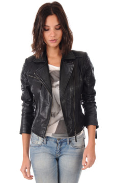 veste lpb blouson en cuir les p 39 tites bombes pour femme. Black Bedroom Furniture Sets. Home Design Ideas