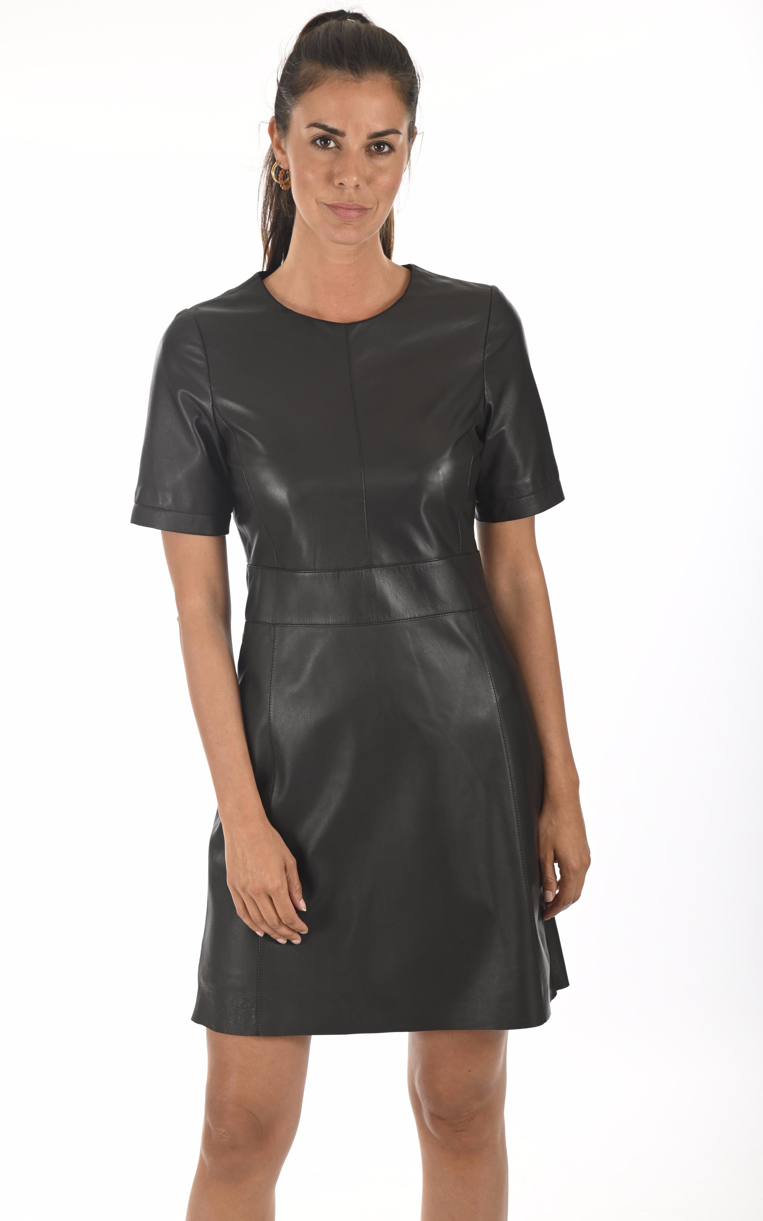Robe cuir Feline noire Oakwood
