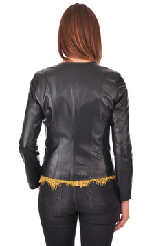 Spencer cuir noir