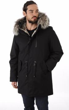 Parka Moritz-X laine feutrée noir