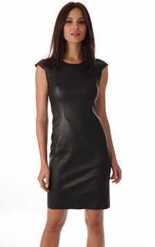 Robe Cuir Noir Stretch1