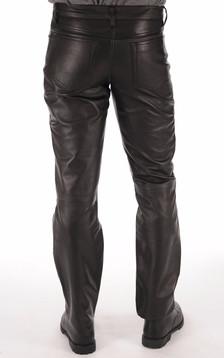 Pantalon Cuir Noir Homme