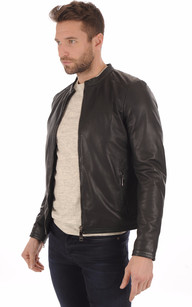 Blouson Cuir Perforé Smith1