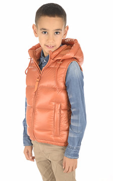Doudoune Little Cesar abricot