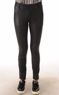 Pantalon Cuir Agneau Stretch Noir1