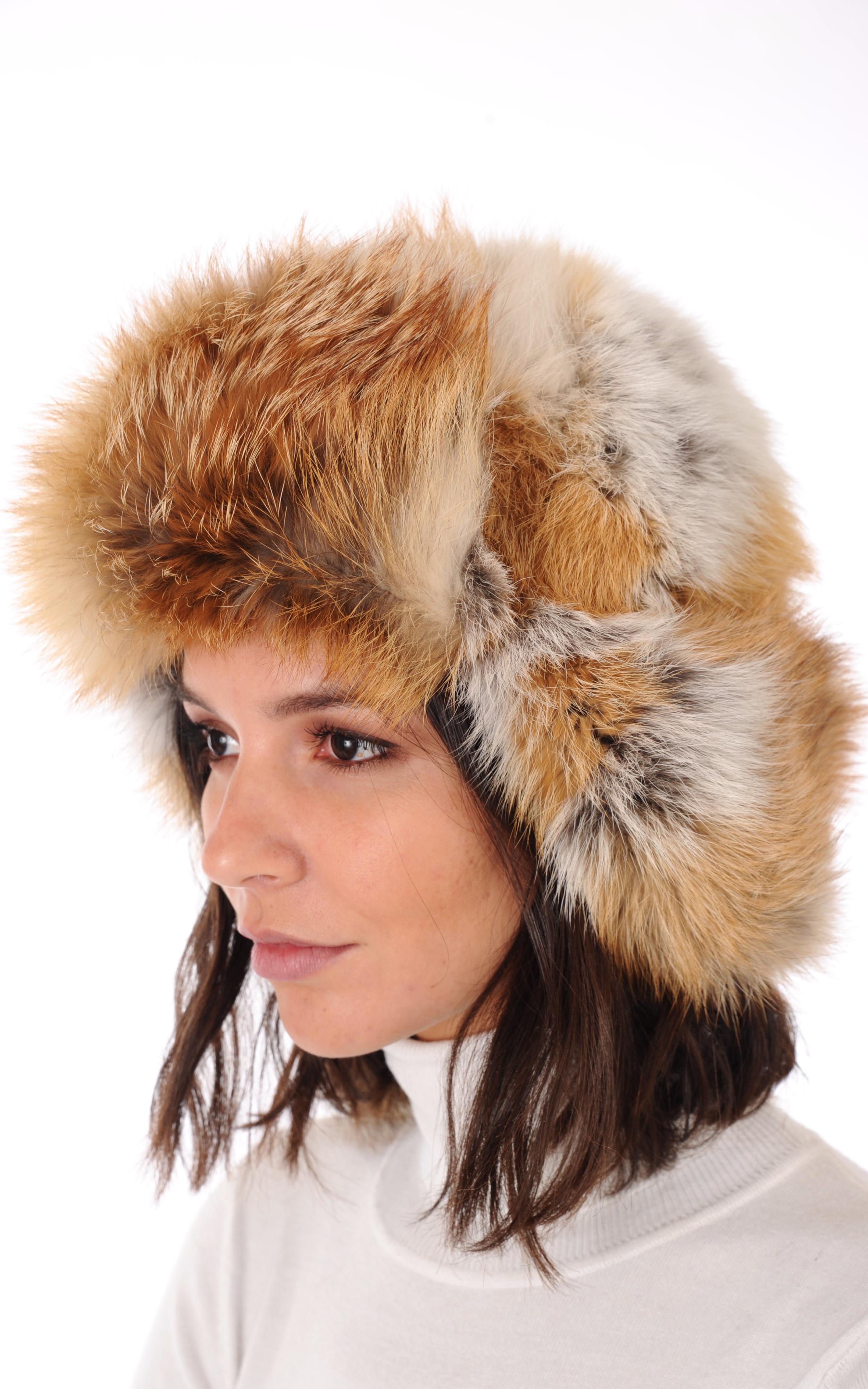 chapka renard wild la canadienne la canadienne toque bonnet chapka fourrure roux. Black Bedroom Furniture Sets. Home Design Ideas