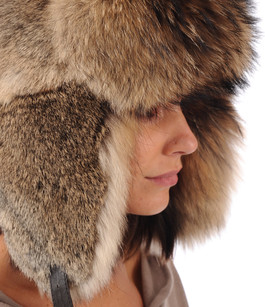Chapka Lièvre et Raccoon La Canadienne