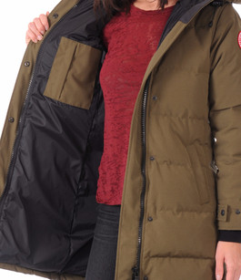 Parka Shelburne military green Canada Goose