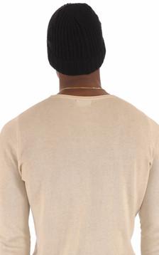 Bonnet Laine Noire Homme
