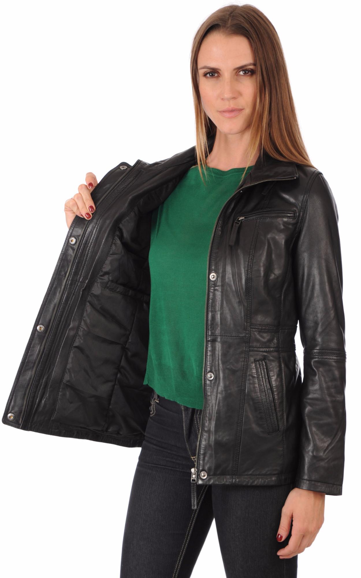 Veste Cuir Femme Coupe Confortable