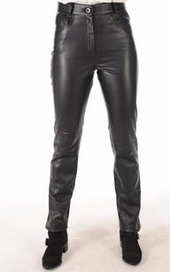 Pantalon Cuir Femme Coupe Droite1