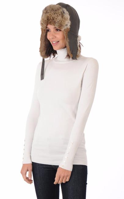 chapka femme la canadienne la canadienne toque bonnet chapka fourrure kaki. Black Bedroom Furniture Sets. Home Design Ideas