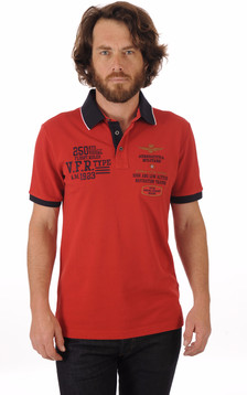 Polo Rouge Patch Aero